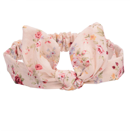 Picture of Elastic Headband With A Flower Print Beige
