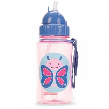 Skip Hop® Steklenička s slamico Metuljček