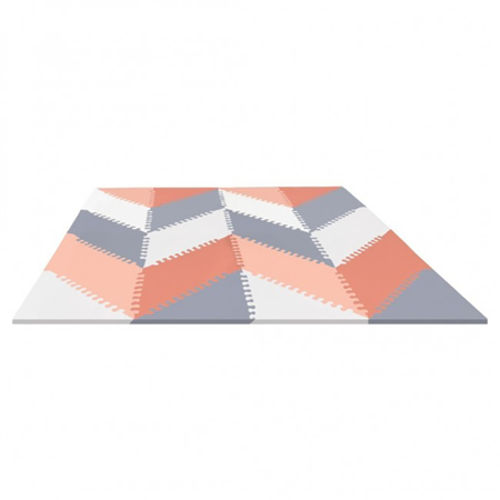 Picture of Skip Hop® Playspot Geo Foam Floor Tiles Grey/Peach