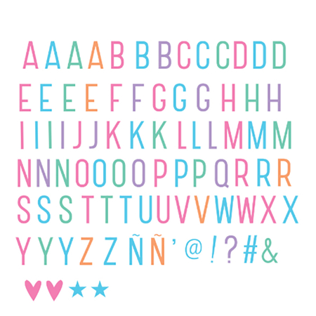 Immagine di A Little Lovely Company® Lightbox Set Lettere e Numeri - Pastel