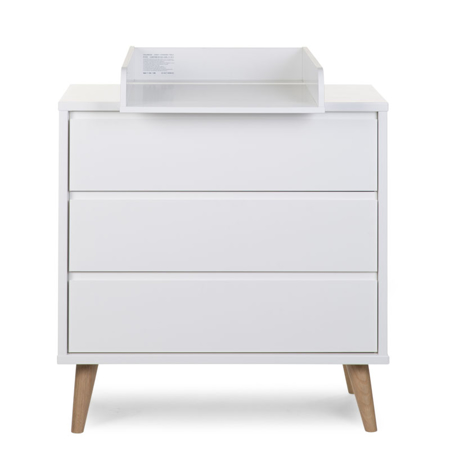 Picture of Childhome® Retro Rio White Chest 3 Drawers + Changing Unit
