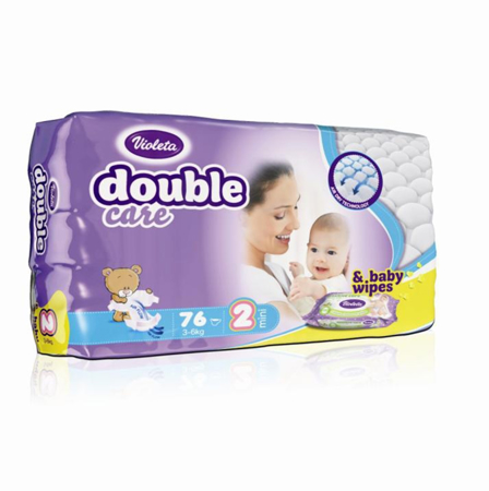 Picture of Violeta® Double Care Aircare 2 (3-6 kg) 76 Pcs