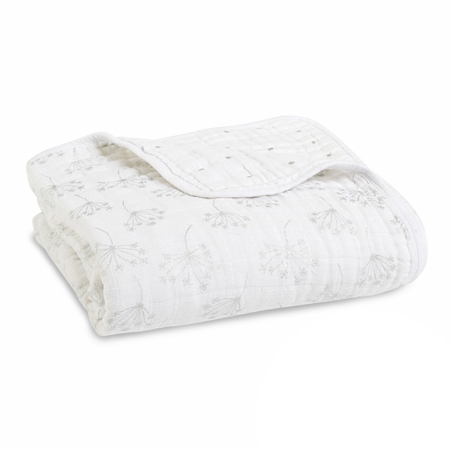 Picture of Aden+Anais® Classic Dream Blanket Metalic Silver Deco (120x120)