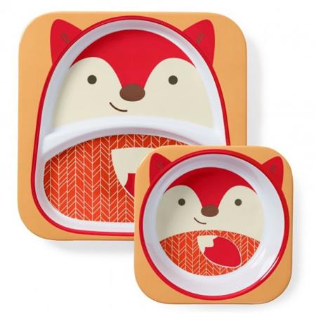 Picture of Skip Hop® Melamine Plate&Bowl Set Fox