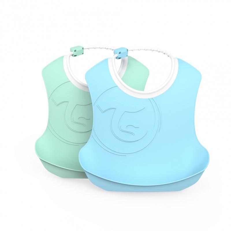 Immagine di Twistshake® Due bavaglini Pastel Blue&Green (4+m)