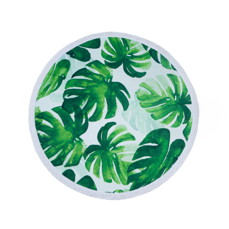 Picture of Olala Round Beach Towel - Ocean Greens
