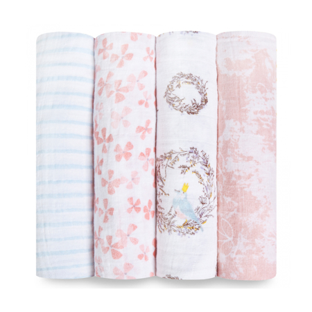 Picture of Aden+Anais® Classic Swaddle Set 4-Pack Birdsong (120x120)