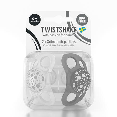 Immagine di Twistshake® Due ciucci Black&White - 6+ mesi