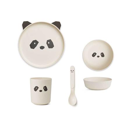 Immagine di Liewood® Set pappa bamboo panda Creme de la Creme