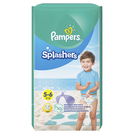Picture of Pampers® Water Pants Diapers Size 5 10 Pcs.