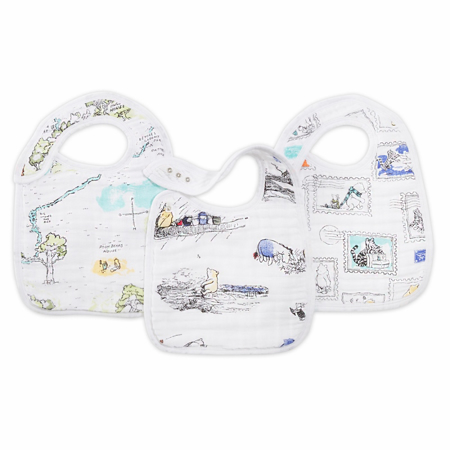 Picture of Aden+Anais® Classic Snap Bib 3-Pack Winnie The Pooh