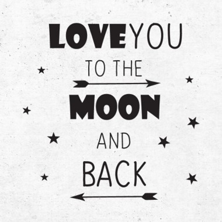 Immagine di Pick Art Design® Adesivo da parete Love to the Moon
