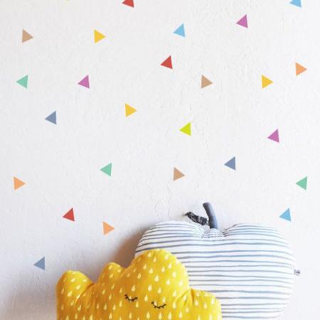 Immagine di Pick Art Design® Adesivo da parete Triangoli Multicolor
