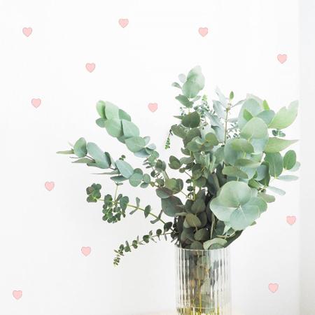 Immagine di Pick Art Design® Adesivo da parete Cuori Rosa Pastello