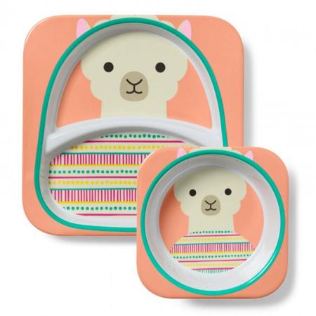 Immagine di Skip Hop® Set scodella e piattino Lama