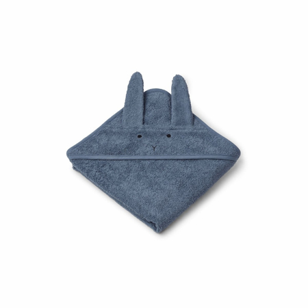 Picture of Liewood® Hooded Baby Towel - Rabbit Blue Wave