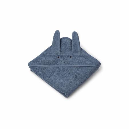 Immagine di Liewood® Asciugamano con cappuccio Rabbit Blue Wave Baby 70x70