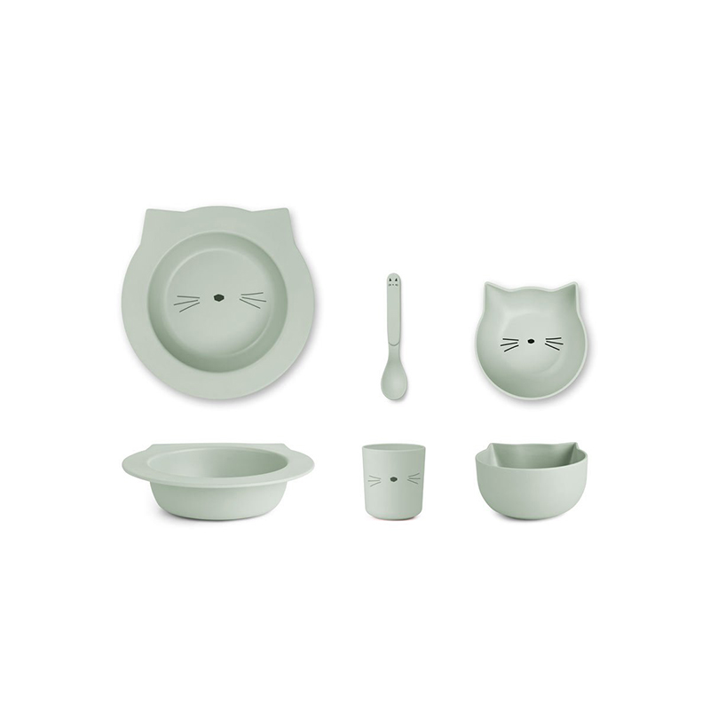 Immagine di Liewood® Set pappa bamboo baby cat dusty Mint
