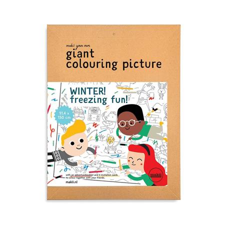 Immagine di Makii® Mega Libro da Colorare Inverno