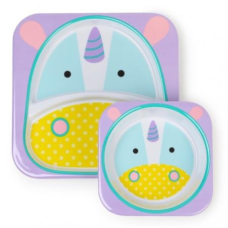 Immagine di Skip Hop® Set scodella e piattino Unicorno