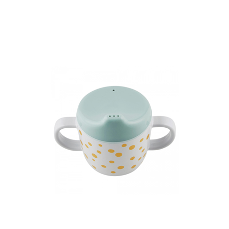 Immagine di Done by Deer® Tazza per imparare a bere Happy Dots Gold