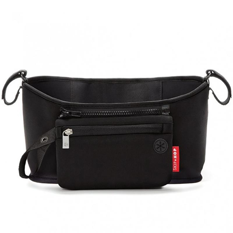 Immagine di Skip Hop® Cestino porta oggetti per passeggino Black
