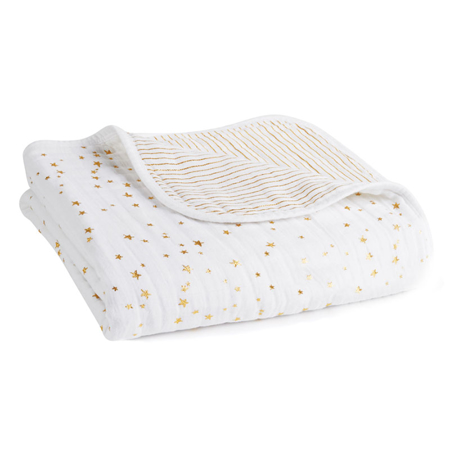 Picture of Aden+Anais® Classic Dream Blanket Metalic Gold (120x120)
