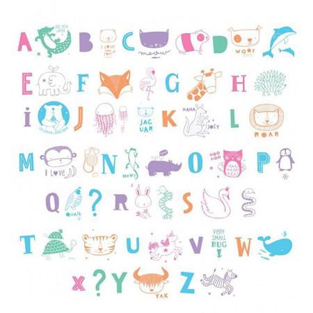 Immagine di A Little Lovely Company® Lightbox Set Lettere e Numeri - ABC pastel