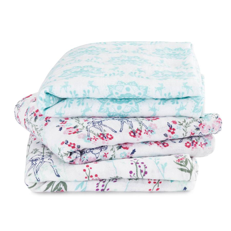 Picture of Aden+Anais® Muslin Squares 3-Pack Bambi (70x70)