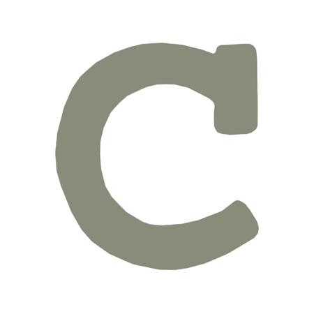 Immagine di BamBam® Lettere di legno Grigie - C