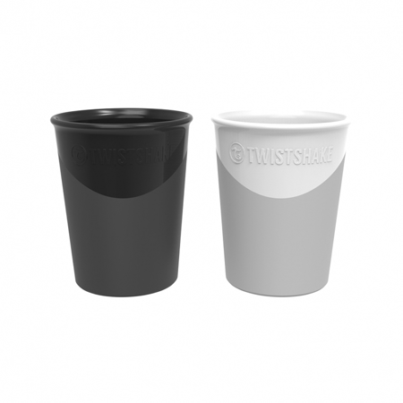 Picture of Twistshake 2x cups Pastel Black&White 170ml 6+M