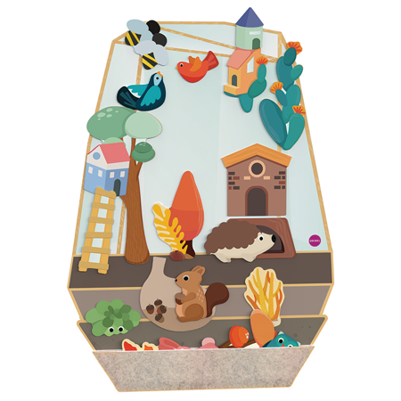 Picture of Oribel® Vertiplay Wall Toy The Enchanted Garden