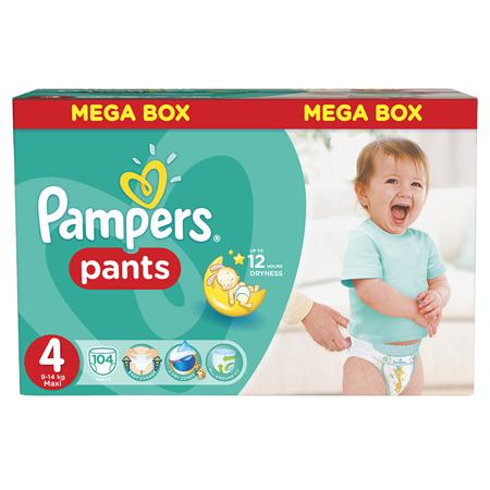Immagine di Pampers® Pannolini la Mutandina taglia 4 (9-14 kg) Mega Box 104 pz.