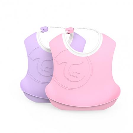 Slika Twistshake® Dva slinčka Pastel Pink&Purple (4+m)