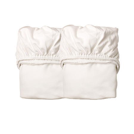 Immagine di Leander® Lenzuola con angoli-per Culla 2 pezzi 79x49 White/White