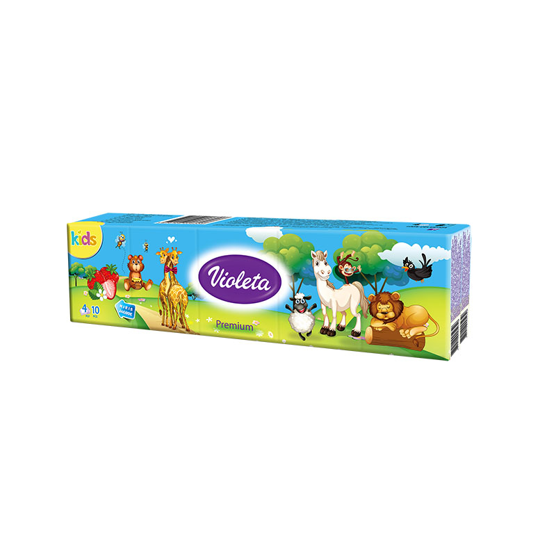 Immagine di Violeta® Premium fazzoletti di carta 4 veli KIDS mini