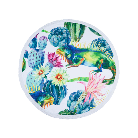 Picture of Olala Round Beach Towel - Tropicana