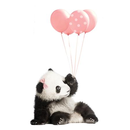 Slika Dekornik® Stenska nalepka Pink Panda