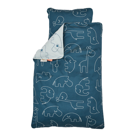 Slika Done by Deer® Posteljnina Sleepy Blue 70x100 in 100x135