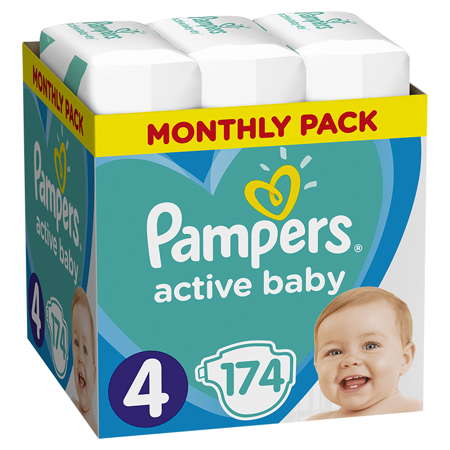 Immagine di Pampers® Pannolini Active Baby Dry taglia 4 (9-14 kg) 174 pz.
