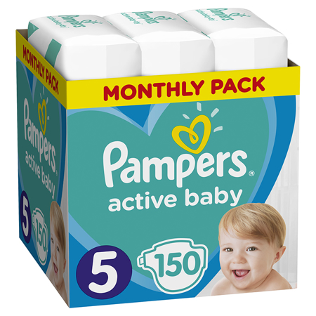 Immagine di Pampers® Pannolini Active Baby Dry taglia 5 (11-16 kg) 150 pz.