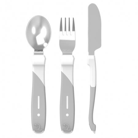 Immagine di Twistshake® Set posate in acciaio inossidabile (12+m) - White