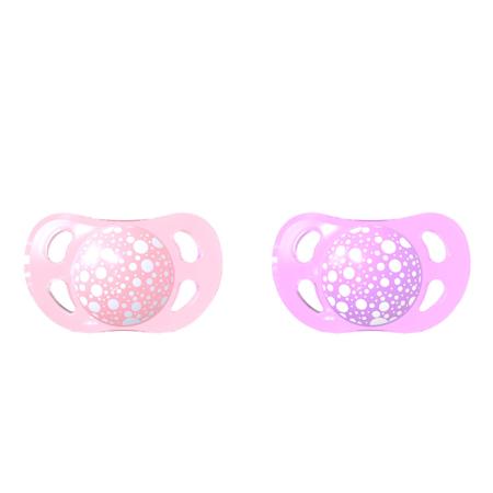 Immagine di Twistshake® Set due ciucci Pastello Pink&Purple - 0-6 mesi