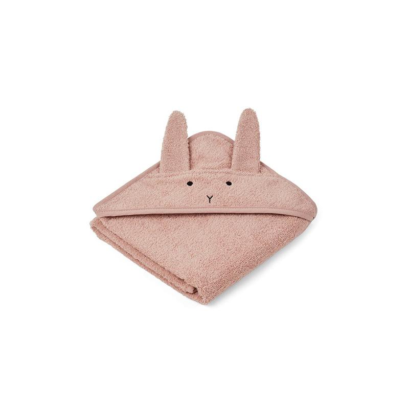Immagine di Liewood® Asciugamano con cappuccio Rabbit Rose Baby 70x70