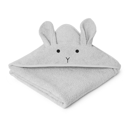 Immagine di Liewood® Asciugamano con cappuccio Rabbit Grey Junior 100x100