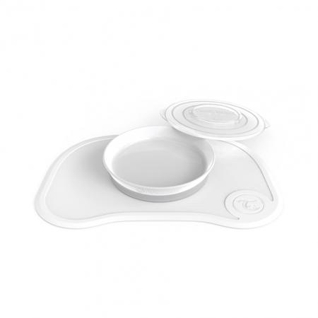 Immagine di Twistshake® Tovaglia piattino 430ml - Bianco