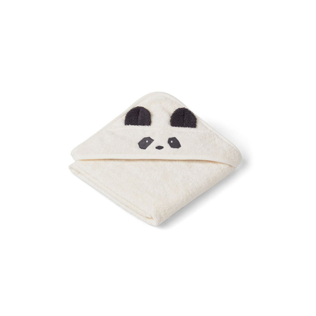 Picture of Liewood® Hooded Baby Towel - Panda Creme De La Creme