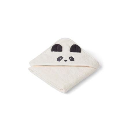 Immagine di Liewood® Asciugamano con cappuccio Panda Creme de la Creme Baby 70x70