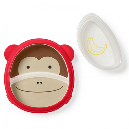 Skip Hop® Otroški multifunkcijski krožnik Opica