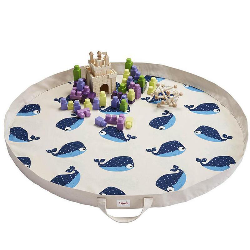 Immagine di 3Sprouts® Tappeto gioco e borsa 2in1 Balena